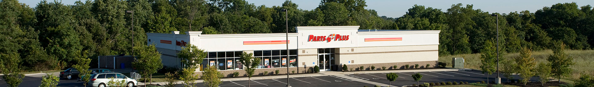 Parts Plus Building in Distance